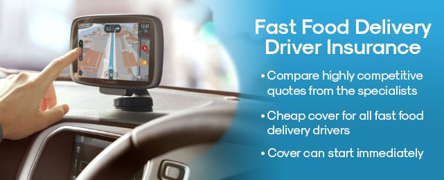 Fast Food Delivery Driver Insurance