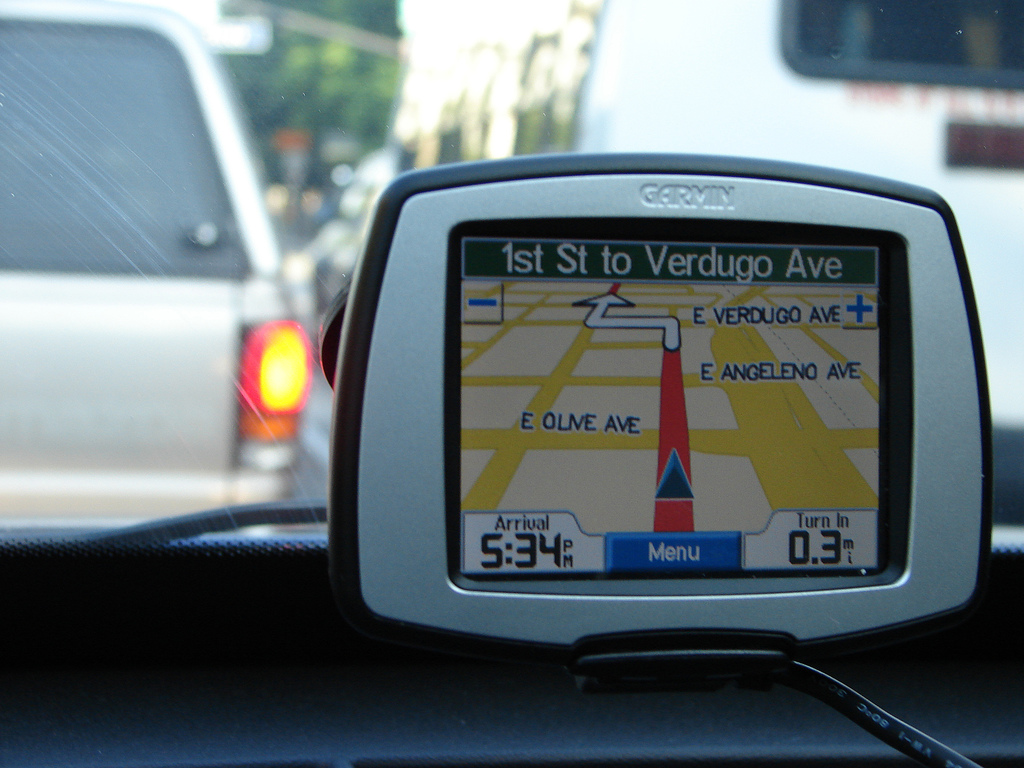 Sat Nav in window
